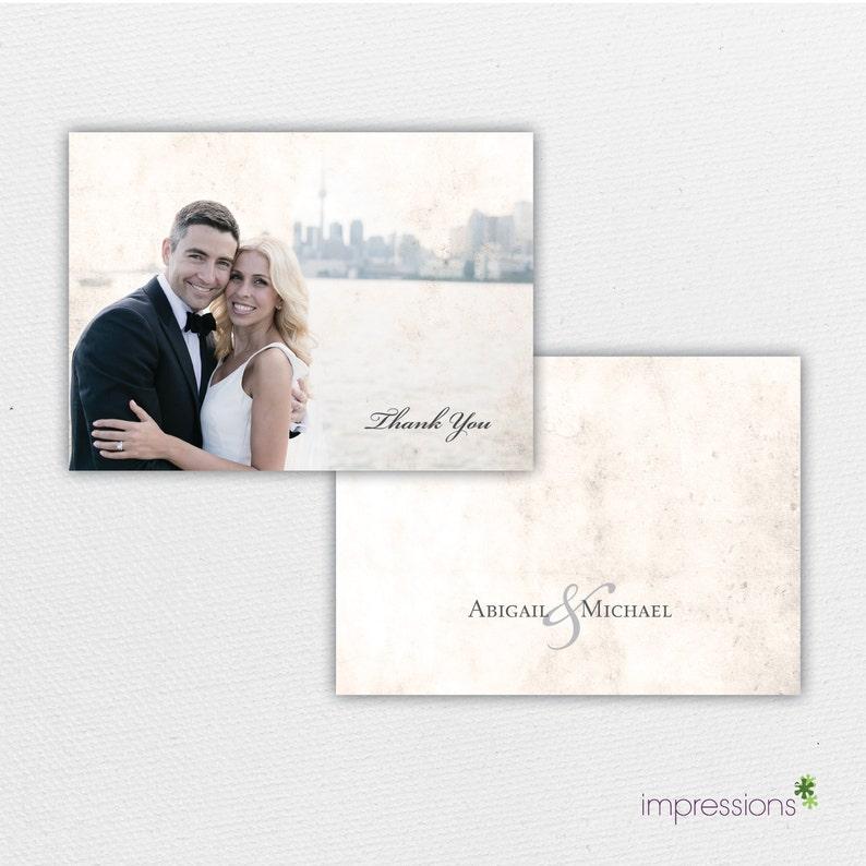 Thank You Card Vintage Wedding Thank You Wedding Stationery Photo Thank You Card Wedding Thank You Card \u2013 Vintage Thank You Card
