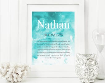 Baby name meaning etsy watercolour baby art name meaning art name meaning baby baby room name art negle Images