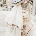 Sombrero Veil - Final Fiesta - Future Mrs. Veil - Wedding Veil - Fiesta - Bride Veil - Bachelorette Gift