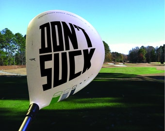 Golf Club Swing Thoughts Decal