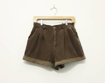 90s Brown Corduroy Shorts