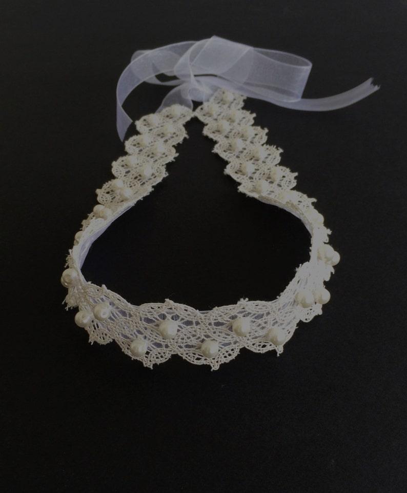 Bridal Hair Accessory Embroidery Headwrap Wedding Hairband Bridal Pearl Headband Wide Lace Hair Jewelry Bridesmaid Headpiece Gift