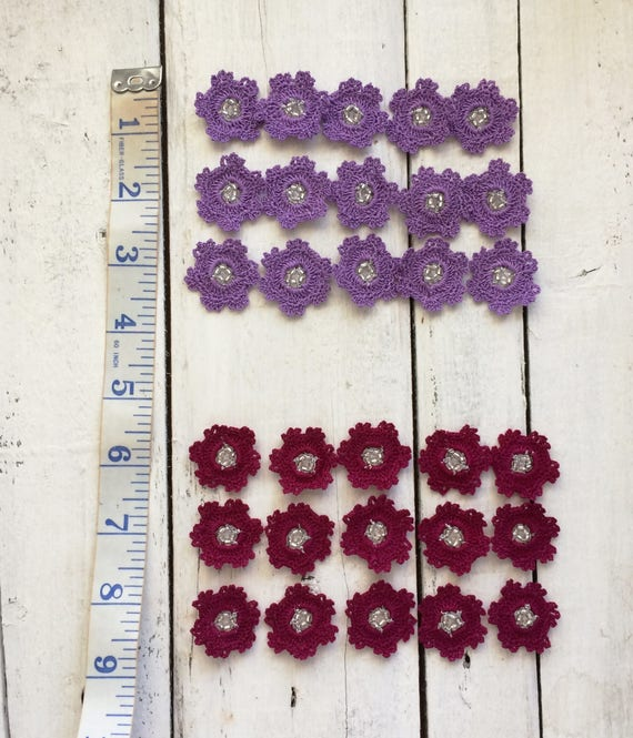 Décorations florales et Crochet, embellissements, fleurs au Crochet, et Applique décorer, ornement de motifs floraux, Oya perles fleurs, au Crochet d'alimentation Art eaa770