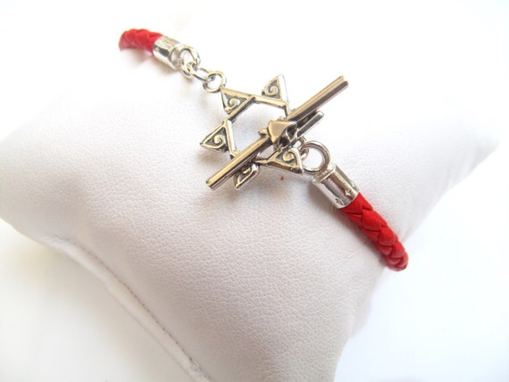 étoile de David basculer fermoir fil rouge Kabbale bracelet   Etsy a73624ac03bb