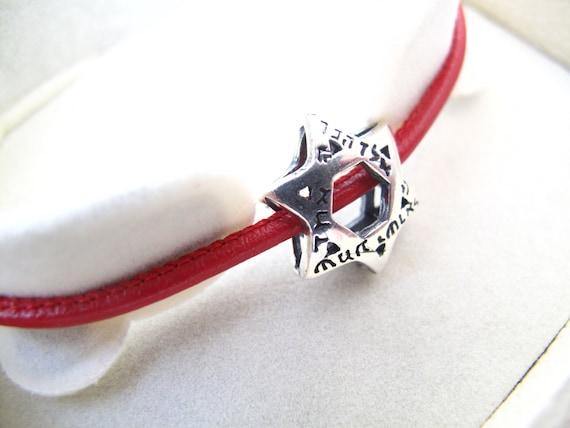 Kabbale rouge string argent bracelet étoile de David shema   Etsy f539ba5010b8