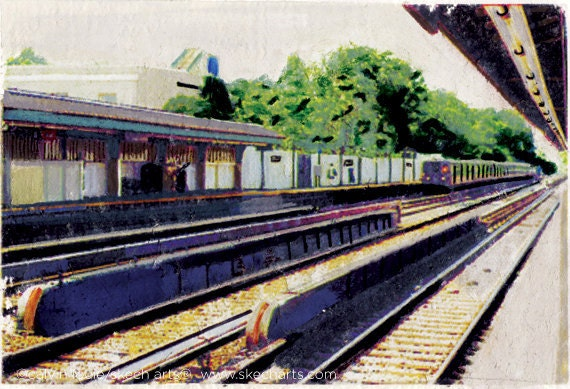 Avenue h train station new york city signed art print etsy