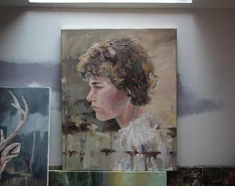 Study of Ryan, original oil on canvas painting