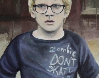Leo Original Oil Portrait Study Painting