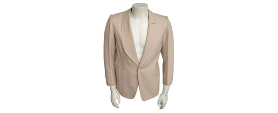 Men's Vintage 1950s Dinner Jacket Shawl Collar Cus