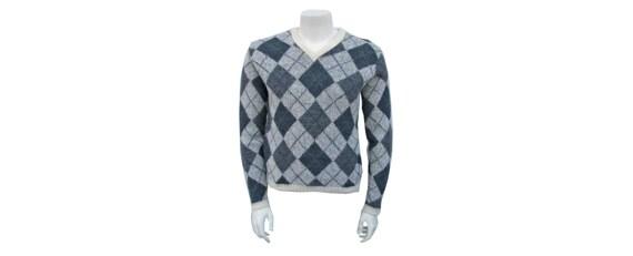 Men's Vintage 1960s Mohair Sweater JANTZEN Grey Ar