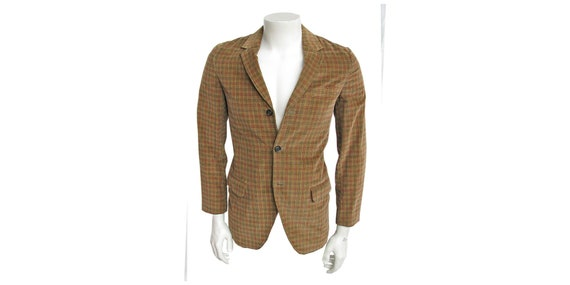 Men's Vintage 1960s Jacket Plaid Corduroy Sport Co