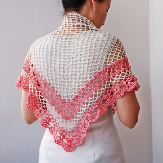 Crochet Pattern Shawl Women Triangle Shawl Crochet Lace Shawl Woman Shawl Crochet Wrap Diy Pdf Pattern