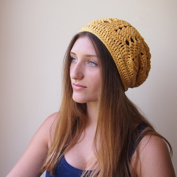 Crochet Pattern Woman Slouchy Chevron Hat Women Ripples Hat Etsy