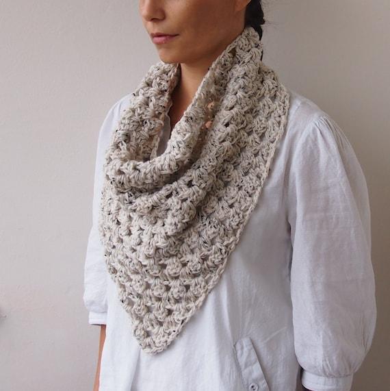 Crochet Pattern Triangle Scarf Granny Cowl Neckwarmer Infinity Etsy
