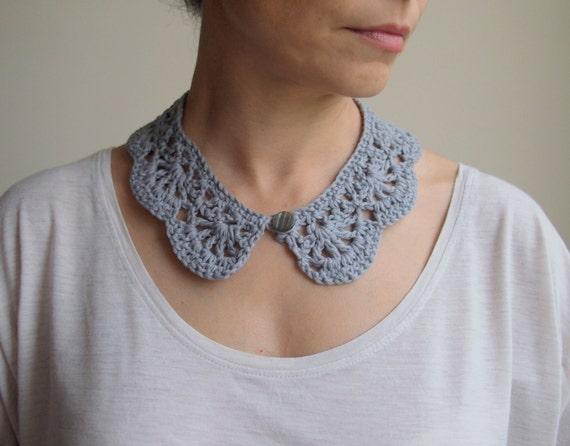 Crochet Pattern Peter Pan Collar Girl Crochet Cowl Vintage Etsy
