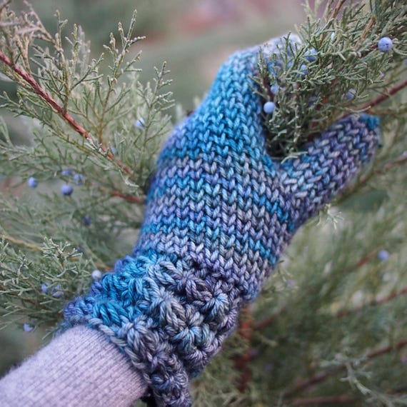 Crochet Pattern Star Stitch Mittens With Knit Look Woman Etsy