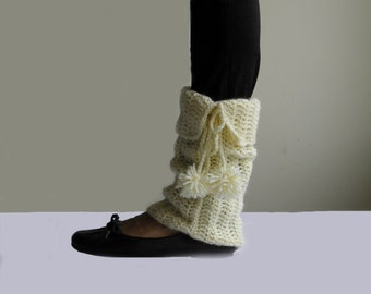 Crochet Pattern women leg warmers, pom pom boot cuffs, boot socks, rain boots socks PDF crochet pattern, Instant download