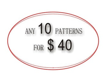 10 PDF crochet patterns, DIY tutorial,  Quick and easy gift
