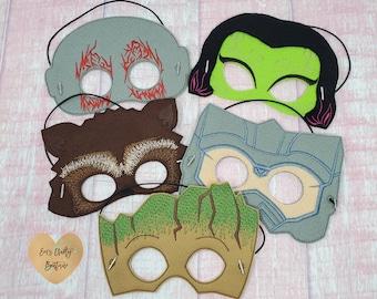 Dragon Masks Felt Mask Costume Child Size Dress Up Quiet Play Felt Mask