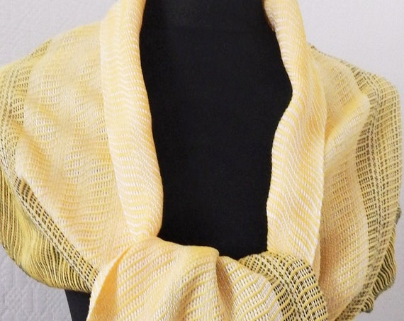"Hand woven ""Waves""- Scarf"