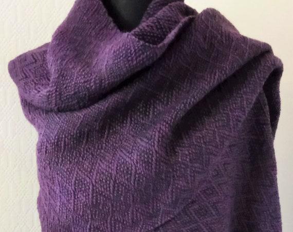 "Hand woven ""Autumn""- Shawl, scarf, throw, blanket, wool, custom-made"