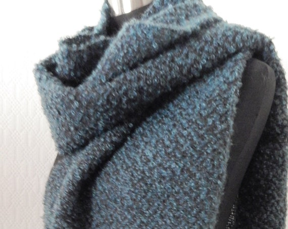 Handwoven Mohair- shawl / scarf, wool/mohair