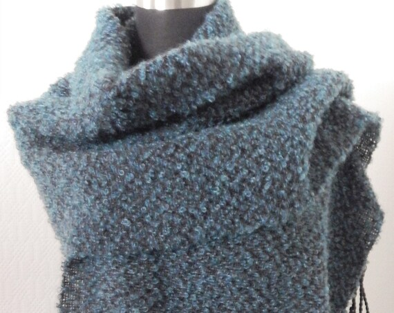 Handwoven Mohair- shawl / scarf, wool/mohair