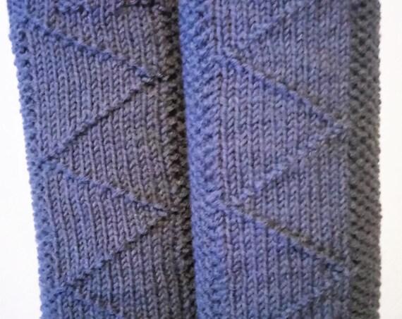 Handknit leg warmers, gray, wool