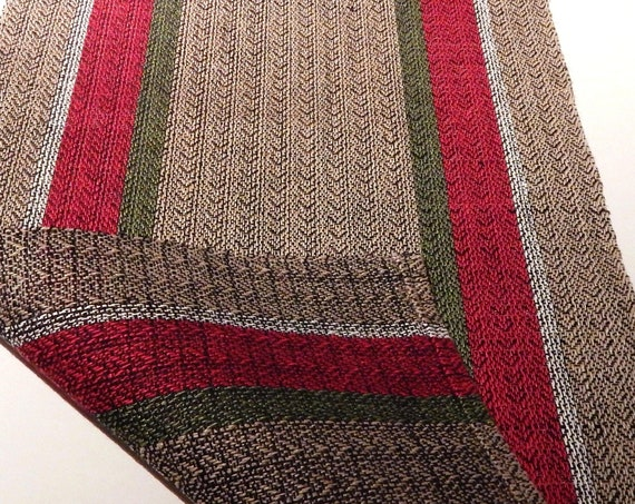 Hand woven Table Runner, linen