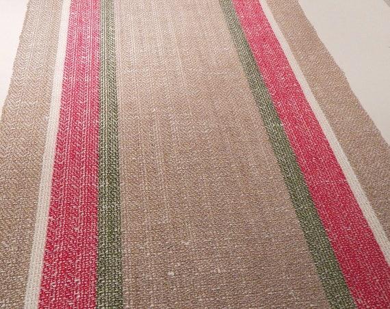 Hand woven Table Runner, linen