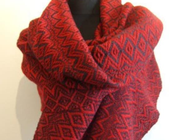 "Hand woven ""Autumn""- Shawl, scarf, throw, blanket, wool"