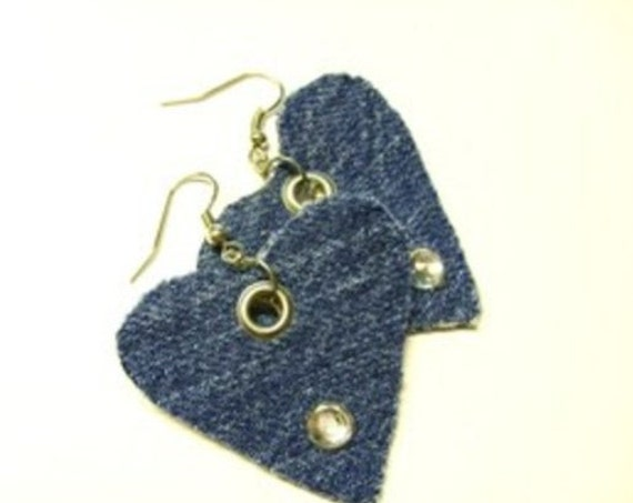 Jeans Heart- earrings