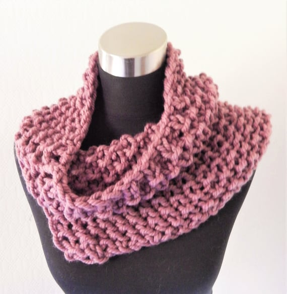Handknitted Cowl Scarf / Shoulder Warmer / Tube scarf, wool