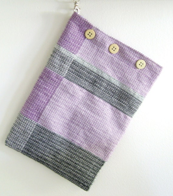 Handwoven Linen Pouch, Tablet case, storage bag, shopping bag