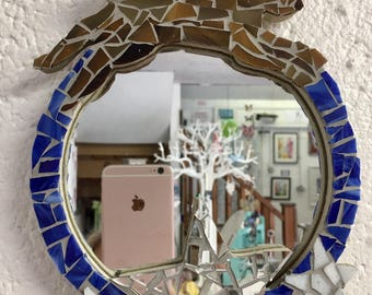 Leaping Hare Mosaic Mirror