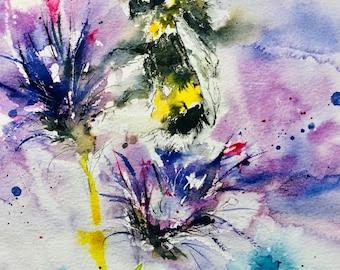 Inky Bee print