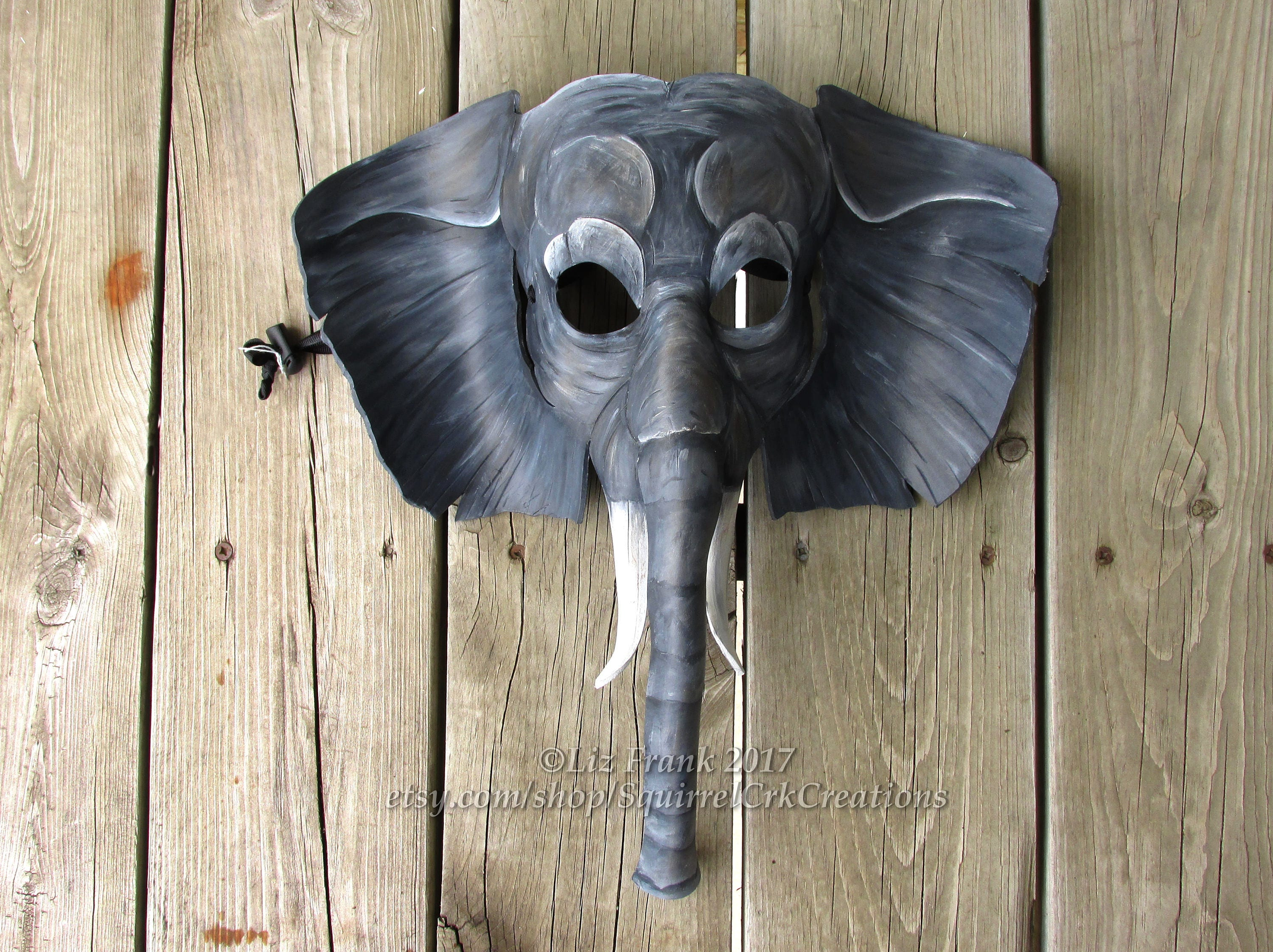 Elephant Mask African Animal Leather LARP Cosplay Theater Prop Halloween Costume