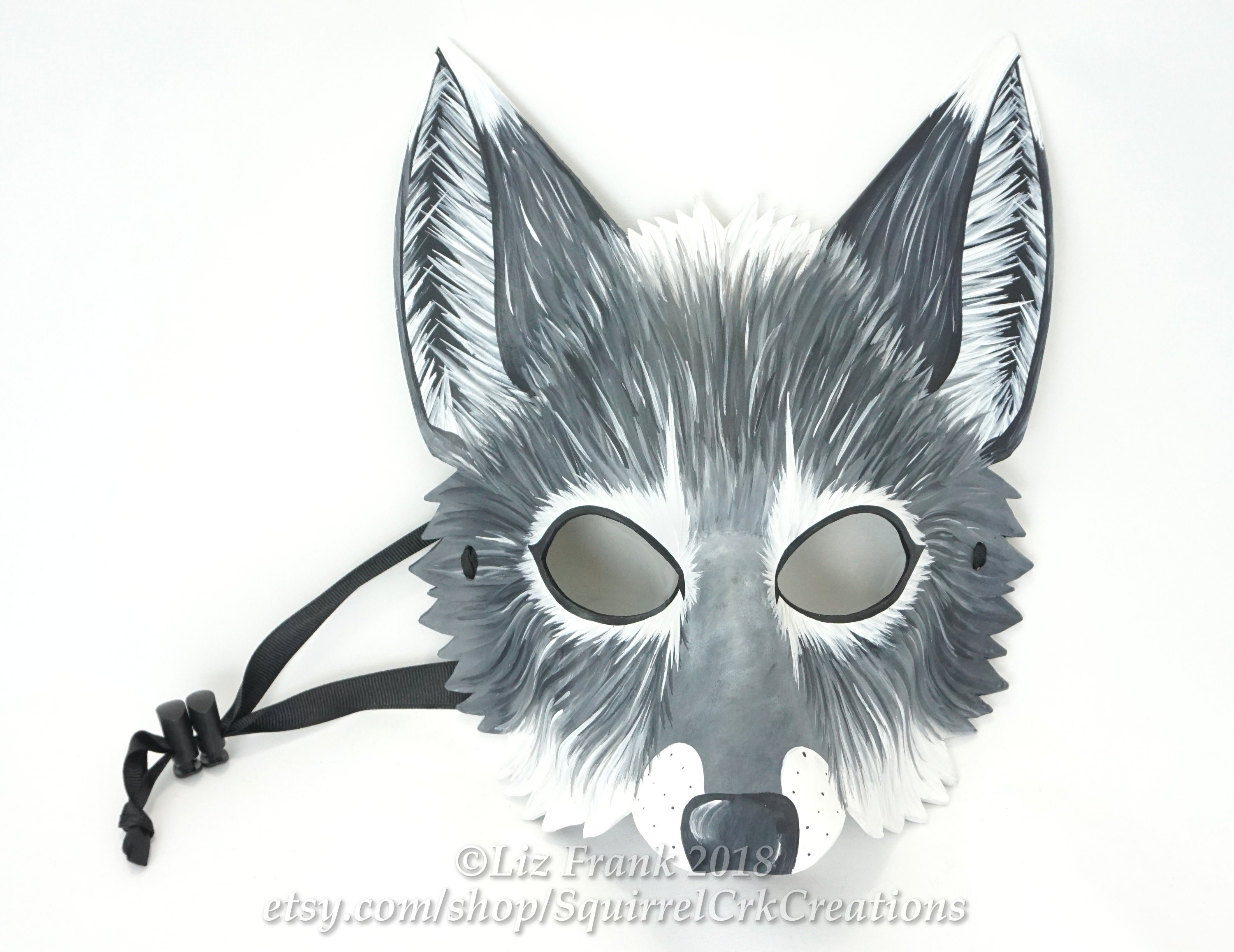 b1b2a0e697 Wolf Mask Animal mask Leather mask Gray wolf Grey wolf