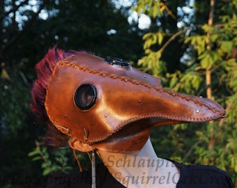 Plague Doctor mask,  LARP, Steampunk Costume, Leather mask, Role Play,  Renaissance, Horror, Halloween,  Steampunk
