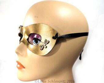 Steampunk mask, Leather mask,  Masquerade, Cosplay, Wedding, Masked Ball, Rave, Prom,  Mardi Gras, Halloween, Costume