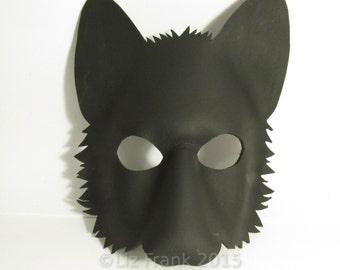 Wolf Mask, Blank Form, LARP,  Animal mask, Leather mask, Cosplay, Fox mask,  DIY Mask, Halloween Mask, Costume, Theatre, Mardi Gras