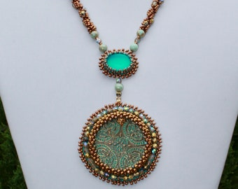 Turquoise Medallion Necklace