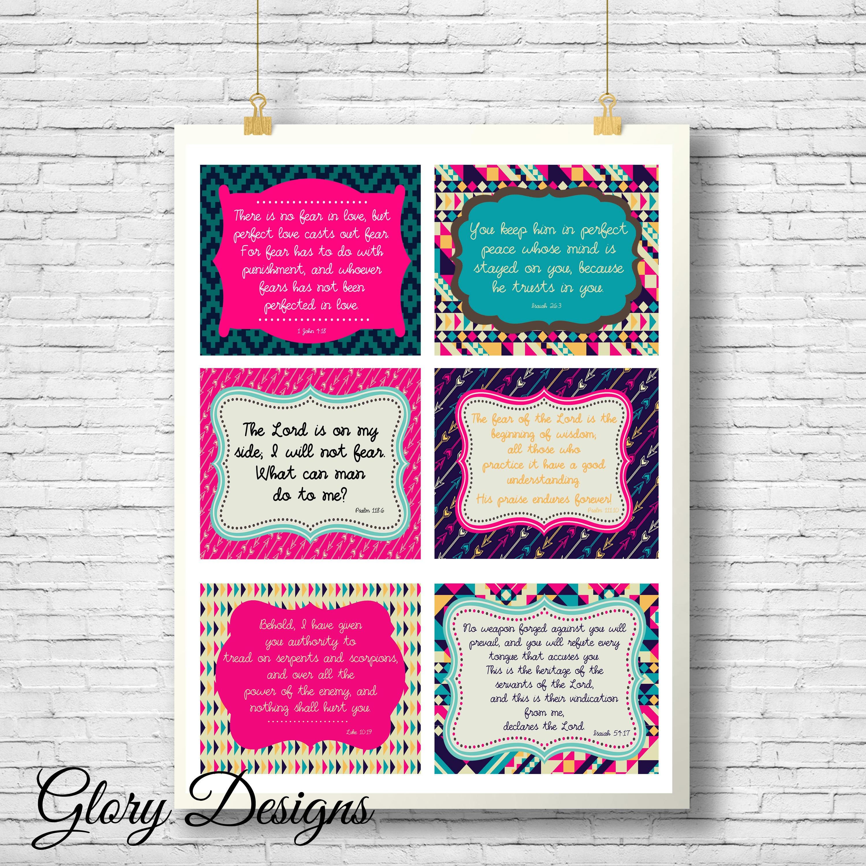 Prayer Cards printable Prayer Scripture cards diy | Etsy