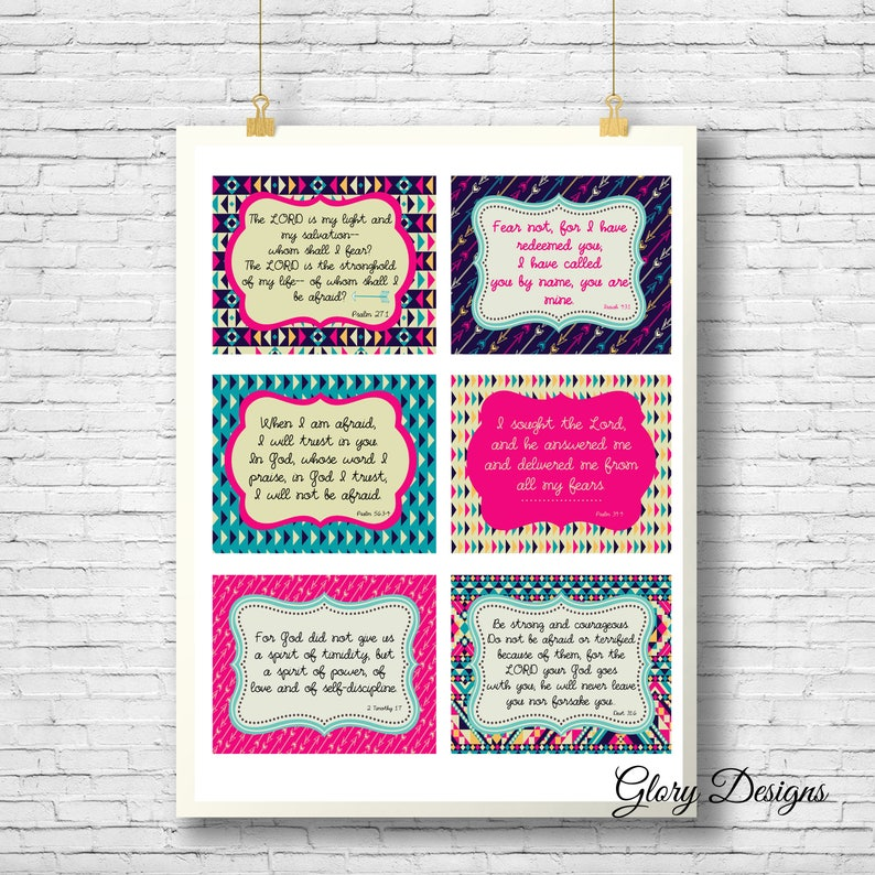 photo regarding Printable Prayer Cards identified as Printable Prayer Playing cards, Scripture memorization, Fearless printable, Bible Verse, Printable playing cards, Beating Get worried Fastened, Immediate Obtain