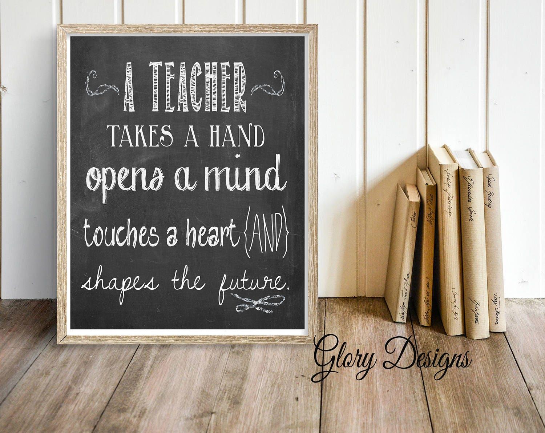 Lehrer-Wertschätzung-Geschenk Lehrer Zitat Lehrer | Etsy