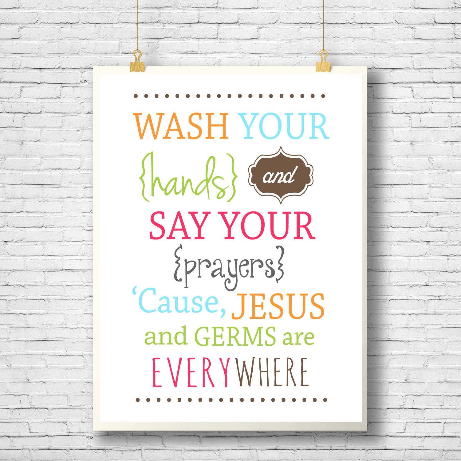 photograph relating to Wash Your Hands and Say Your Prayers Printable known as Printable, Wall decor, Clean Your Fingers and Say Your Prayers, wall artwork, rest room printable, Do it yourself, youngsters print, Christian Typography