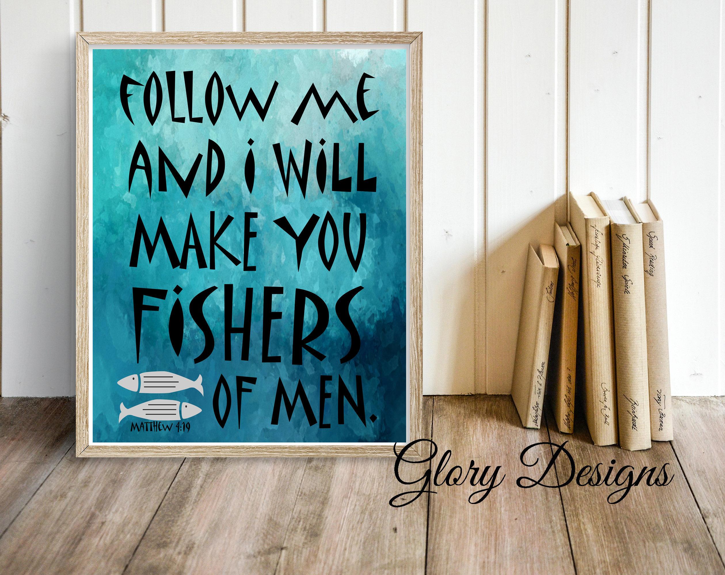 Imprimible siga me haré pescadores de hombres para imprimir | Etsy