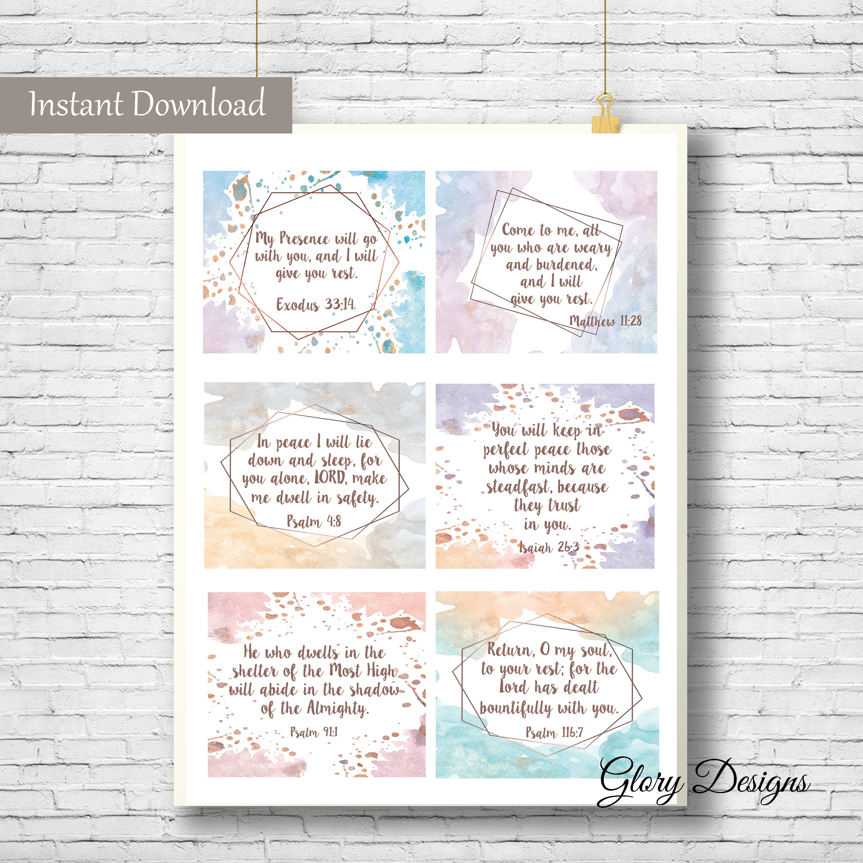 Printable Prayer Cards on Rest, Overcoming anxiety, Inspirational cards,  Instant download, declaration cards, prayer cards, daily prayer