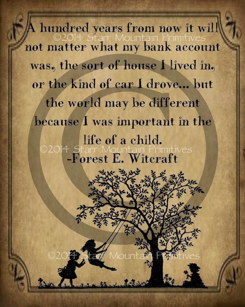Primitive Life Of A Child Quote Forest E Witcraft Etsy