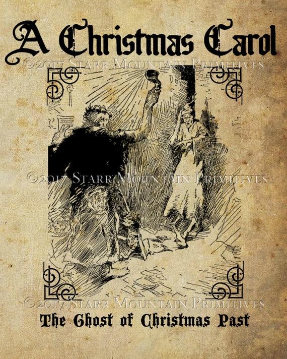 Primitive A Christmas Carol Ebenezer Scrooge Charles Dickens Print 8x10